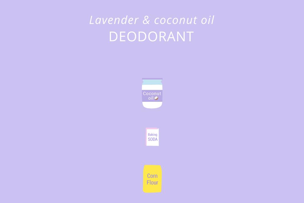 Coconut oil deodorant illustration