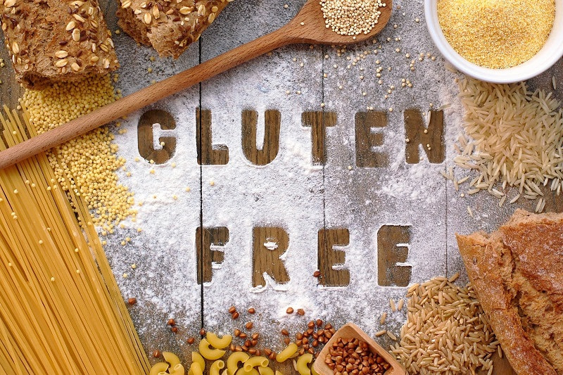 Gluten free written out of flour